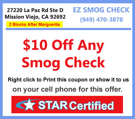 smog check coupons mission viejo